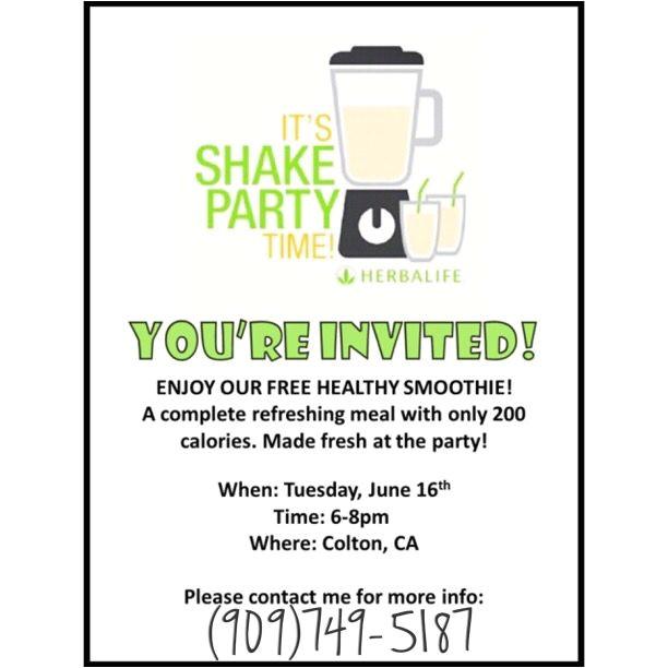 Herbalife Shake Party Invitation Template Herbalife Shake Party Invitation Herbalife