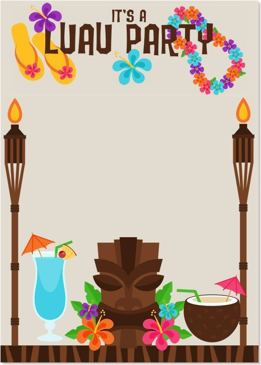 Luau Party Invitation Template Image Result for Luau Invitations Templates Free Luau