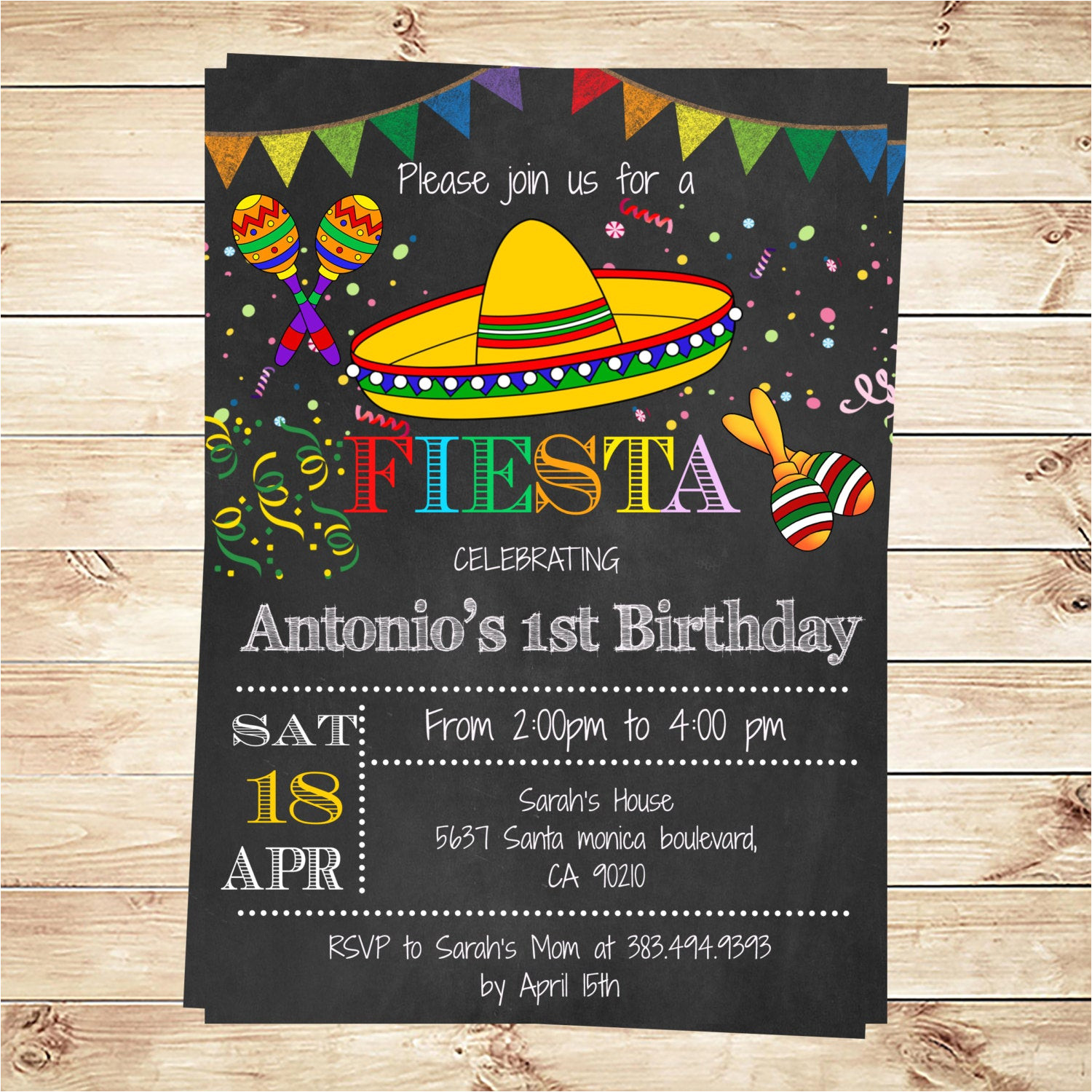 Mexican Party Invitation Template Birthday Mexican Fiesta Party Invitations Printable