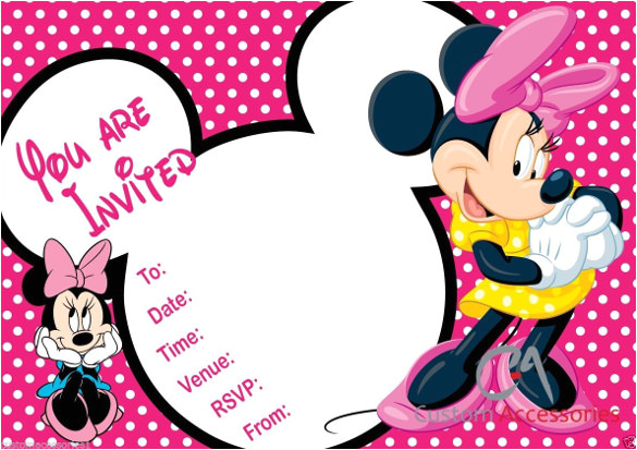 Minnie Mouse Birthday Invitation Template Free Download 33 Minnie Mouse Birthday Invitation Templates Psd Word