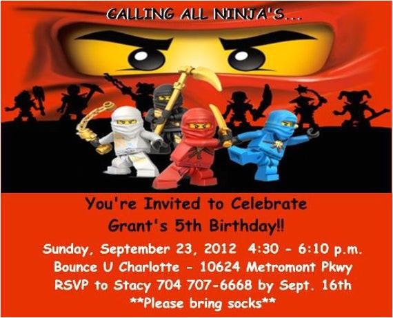 Ninjago Party Invitation Template 40th Birthday Ideas Birthday Invitation Templates Ninjago
