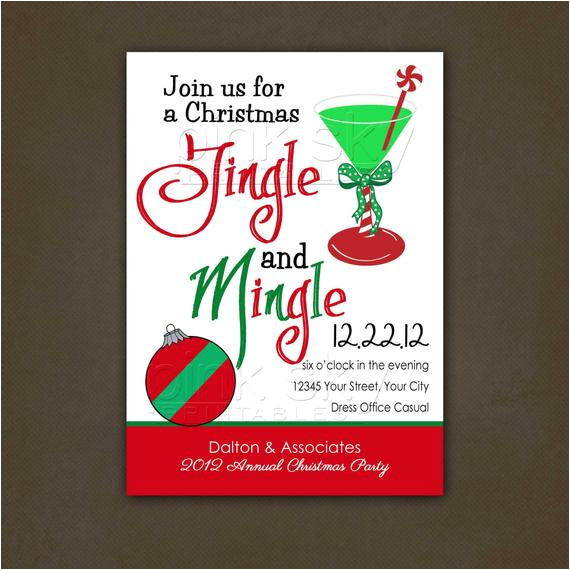 Office Christmas Party Invitation Template Items Similar to Office Christmas Party Invitation
