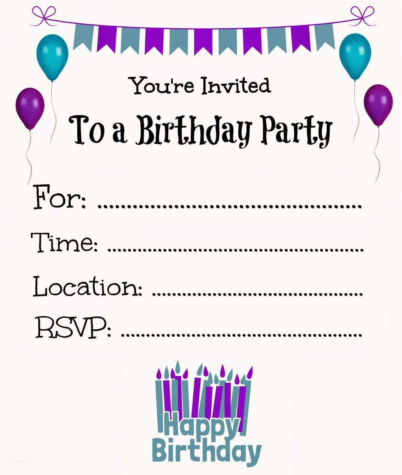 Online Party Invitation Template New Free Online Printable Birthday Party Invitations