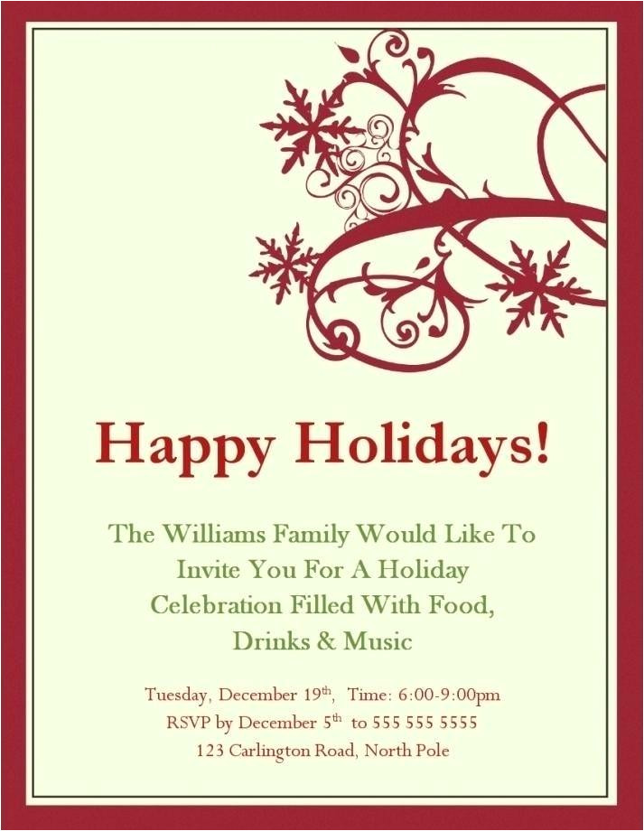 Outlook Holiday Party Invitation Template Holiday Party Email Template Poporon Co