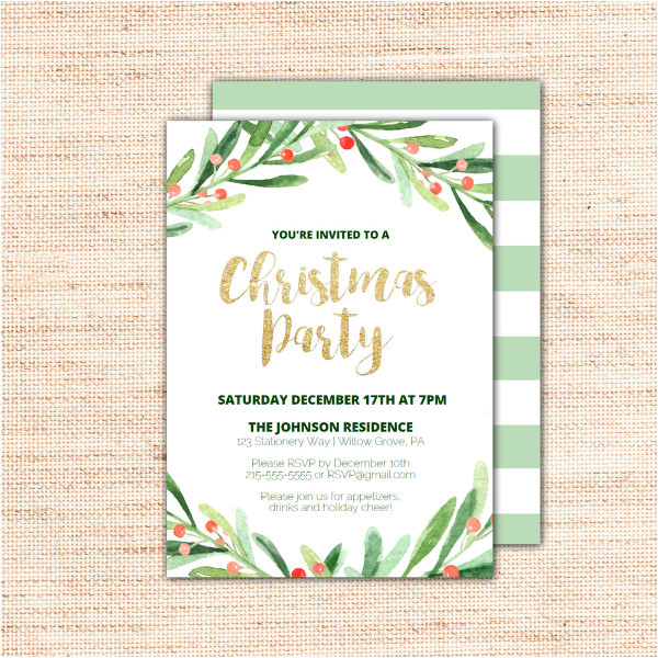 Party Invitation Template .doc 36 Christmas Party Invitation Templates Psd Ai Word