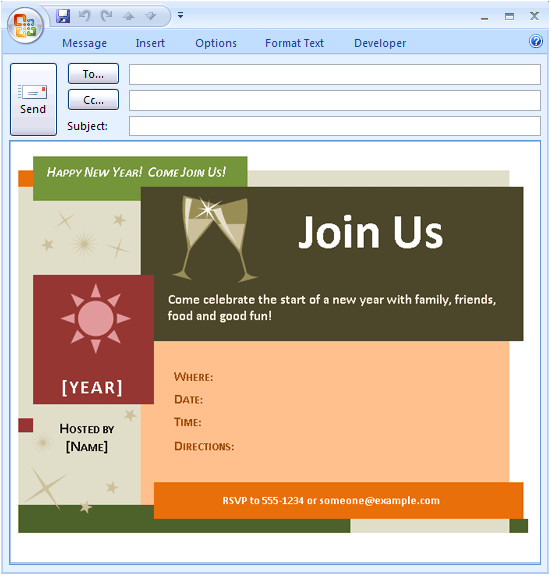 Party Invitation Template for Outlook 26 Images Of Outlook Email Invitation Template Leseriail Com