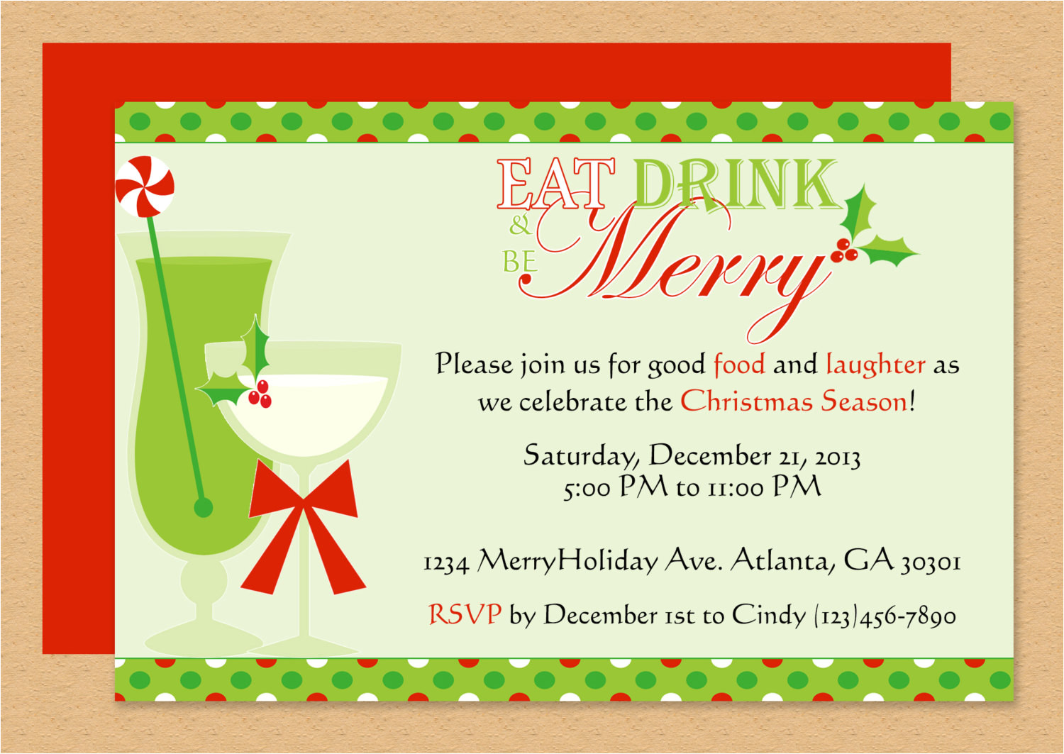 Party Invitation Template for Word Be Merry Invitation Editable Template Microsoft Word