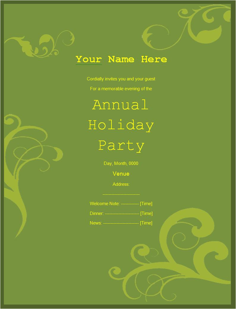 Party Invitation Template Word Free Party Invitation Templates 5 Free Printable Word Pdf