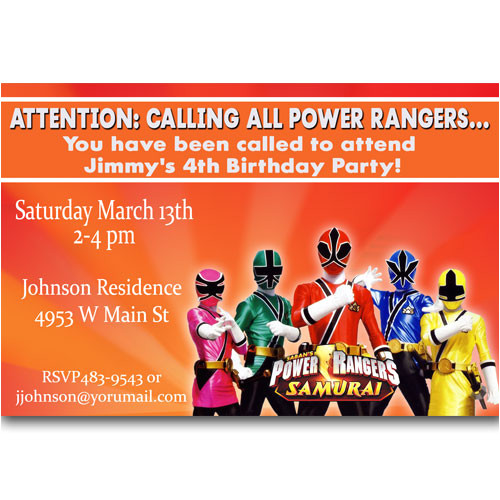 Power Rangers Birthday Invitation Template Power Rangers Birthday Invitations Ideas Free Printable
