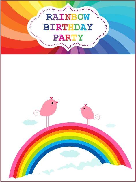 Rainbow Party Invitation Template Download now Rainbow Birthday Invitations Ideas In 2019