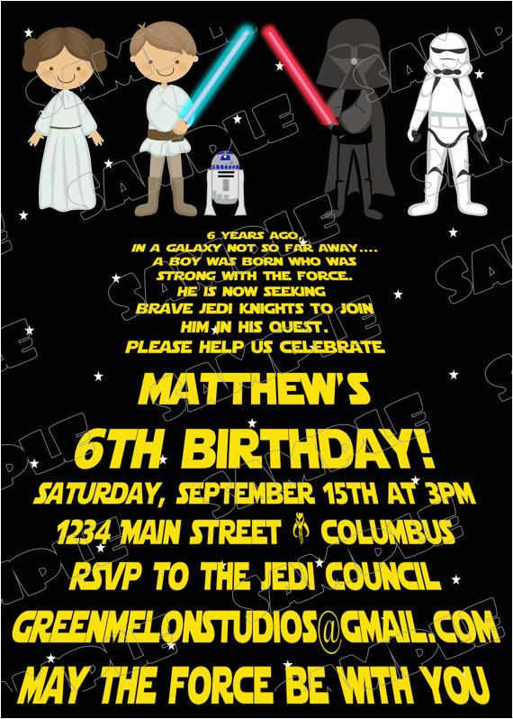 Star Wars Birthday Invitation Template Free Printable Star Wars Birthday Invitations Template
