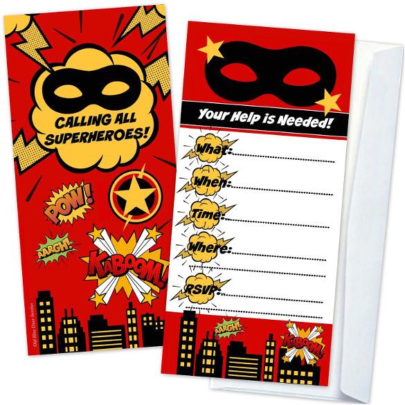 Superhero Party Invitation Template 30 Superhero Birthday Invitation Templates Psd Ai