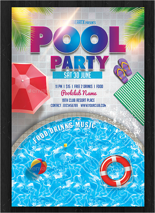 Swimming Party Invitation Template 33 Printable Pool Party Invitations Psd Ai Eps Word