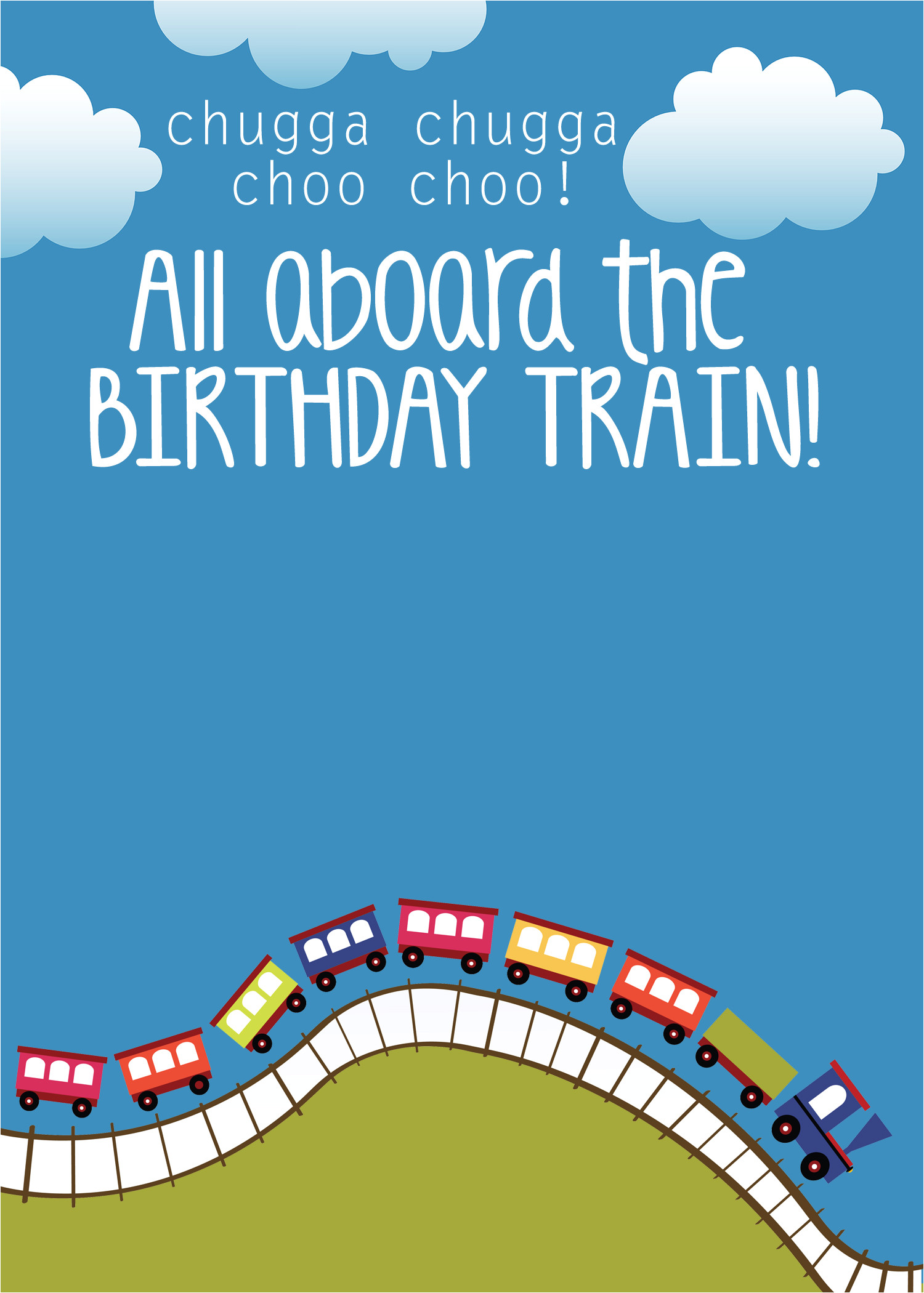 Train Birthday Invitation Template Train Birthday Party with Free Printables How to Nest