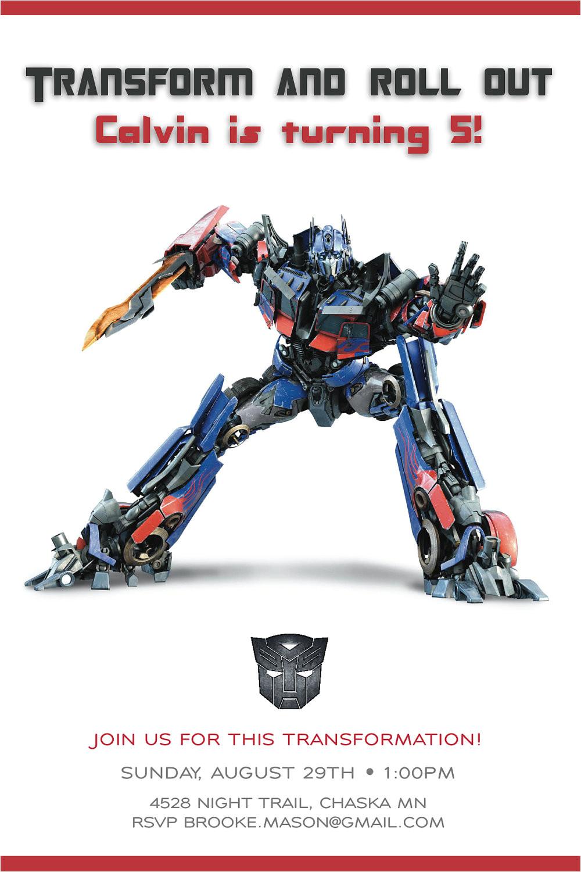Transformers Birthday Invitation Template Transformer Birthday Invitations Bagvania Free Printable