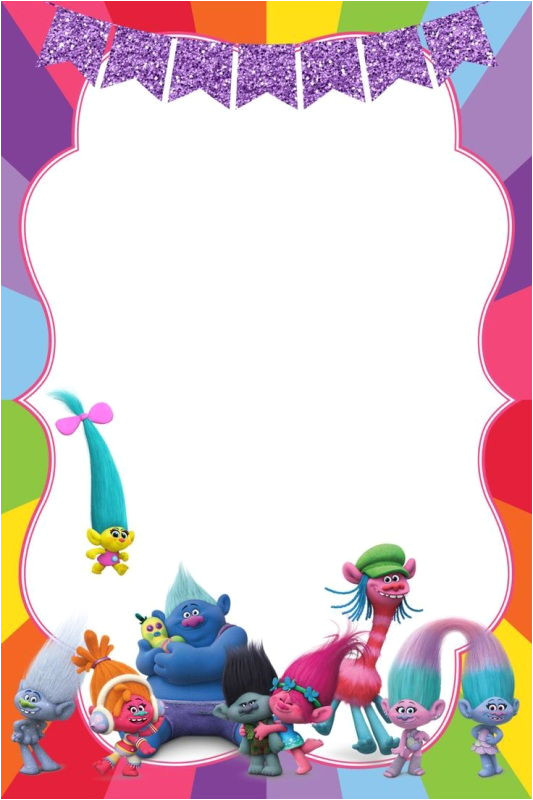 Trolls Party Invitation Template Birthday Party Invitation for Calling All Trolls