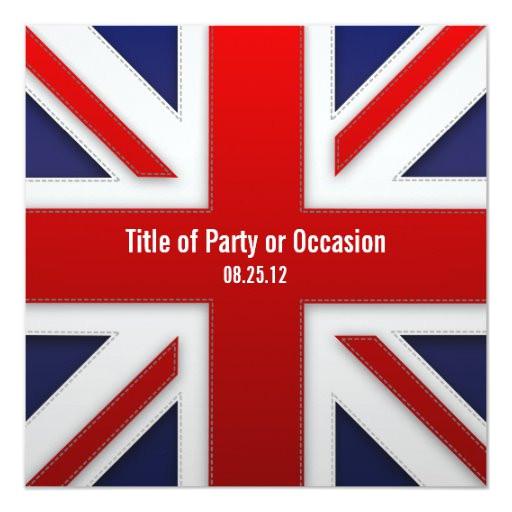 Union Jack Party Invitation Template Free Union Jack Party Invitation Uk Party Invitation Zazzle