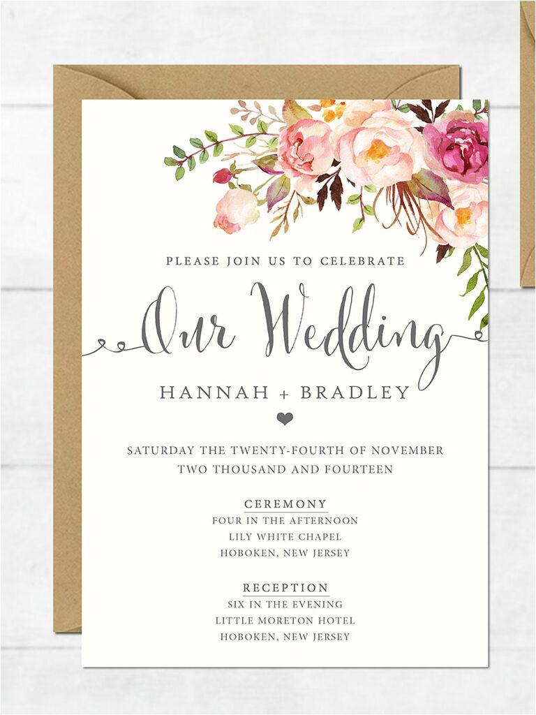 Wedding Invitation format Online 16 Printable Wedding Invitation Templates You Can Diy