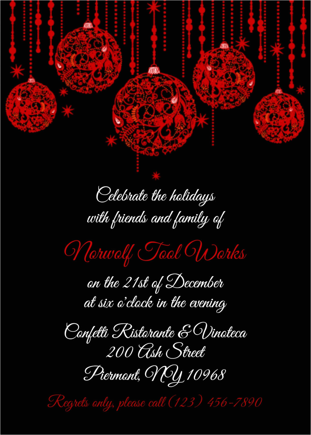 Work Xmas Party Invitation Template Corporate Christmas Party Invitation Templates