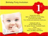 1 Birthday Party Invitation Wording 1st Birthday Party Invitation Wording Wordings and Messages