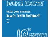 10 Year Old Boy Birthday Party Invitation Wording 10th Birthday Invitation Boy