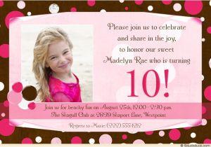 10th Birthday Invitation Quotes 10th Birthday Party Invitation Wording Dolanpedia