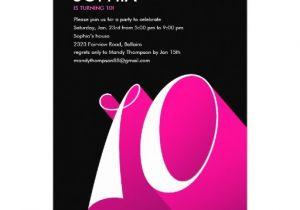 10th Birthday Invitation Quotes Modern Pop 10th Birthday Party Invitations 5 Quot X 7
