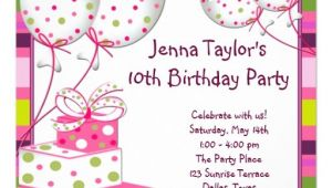 10th Birthday Party Invitation Wording 10th Birthday Party Invitation Wording Cimvitation