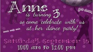 13th Birthday Dance Party Invitations Dance Party Birthday Invitation Digital File You Print or I