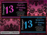 13th Birthday Invitations for Girls 10 X Personalised Teenager 13th Boys & Girls Birthday