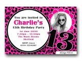13th Birthday Invitations for Girls Personalised Boys & Girls Teenager 13th Birthday Party