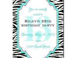 13th Birthday Invitations Printable 13th Birthday Party Invitation Girl Birthday Invitation