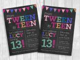13th Birthday Invitations Printable Custom Printable 5×7 Tween to Teen Girl S 13th Birthday