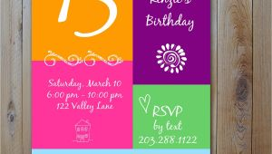 13th Party Invites 13th Birthday Party Invitation Ideas Bagvania Free