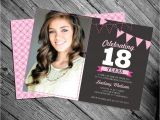18 Year Old Birthday Party Invitations 18th Birthday Invitation