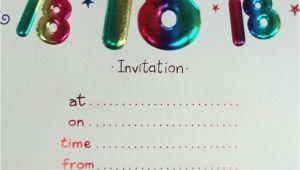 18th Birthday Party Invitation Templates Free 18 Birthday Invitation Templates 18th Birthday