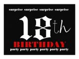 18th Birthday Party Invitation Templates Free 18th Surprise Birthday Party Invitation Template 13 Cm X