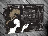 1920s Party Invitation Template Free 1920 39 S Gatsby Flapper Bridal Shower Invitation