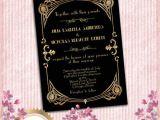 1920s Style Party Invitations Great Gatsby Style Art Deco Wedding Invitation 1920 S