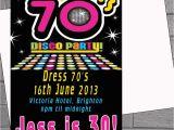 1970s Party Invitations 1970s 70s Seventies Disco Birthday Party Invitations X 12