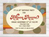1970s Party Invitations 1970s Birthday Party Invitation Digital Invite File Disco