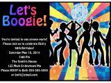 1970s Party Invitations 1970s Disco Dance Birthday Party Invitations Crafty