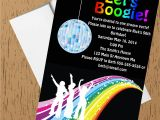 1970s Party Invitations 1970s Disco Dance Birthday Party Invitations Style 2