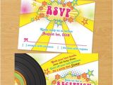 1970s Party Invitations Groovy 1970s or 70s Disco themed Bat Mitzvah Invitation