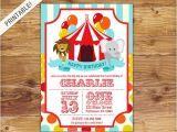 1st Birthday Carnival Invitations First Birthday Carnival Invite Circus Invitation Carnival