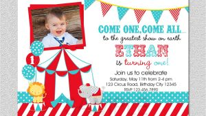 1st Birthday Carnival themed Invitations Circus Birthday Invitation 1st Birthday Circus Party