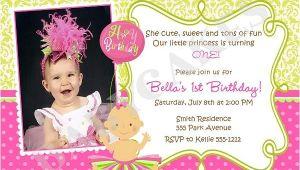 1st Birthday Invitation Card Wordings First Birthday Invitation Wording and 1st Birthday