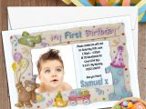 1st Birthday Invitation Frames 10 Personalised First 1st Birthday Party Frame Photo