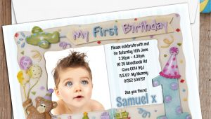 1st Birthday Invitation Frames 10 Personalised First 1st Birthday Party Frame Photo