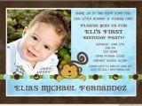 1st Birthday Invitation Ideas for A Boy Monkey Boy Birthday Party Invitation 1st Banana Dots